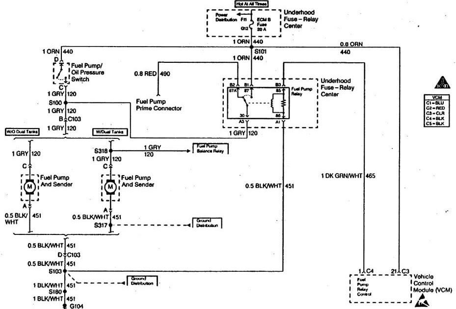 2003 Astro Van Fuel Pump Wiring Diagram