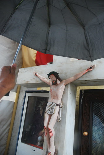 Jesus is Human He Too Gets Wet In The Rains by firoze shakir photographerno1
