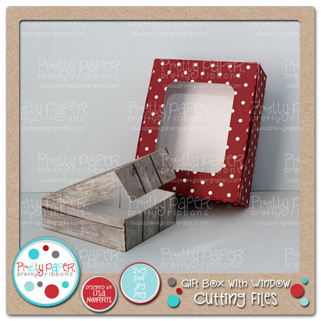 Gift Box with Window Cutting Files