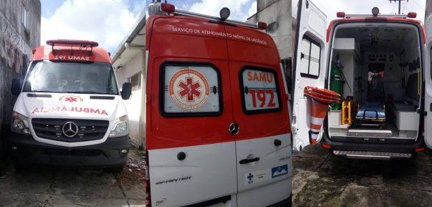 Prefeitura de Caaporã recebe novas ambulâncias do Samu de suporte básico e avançado