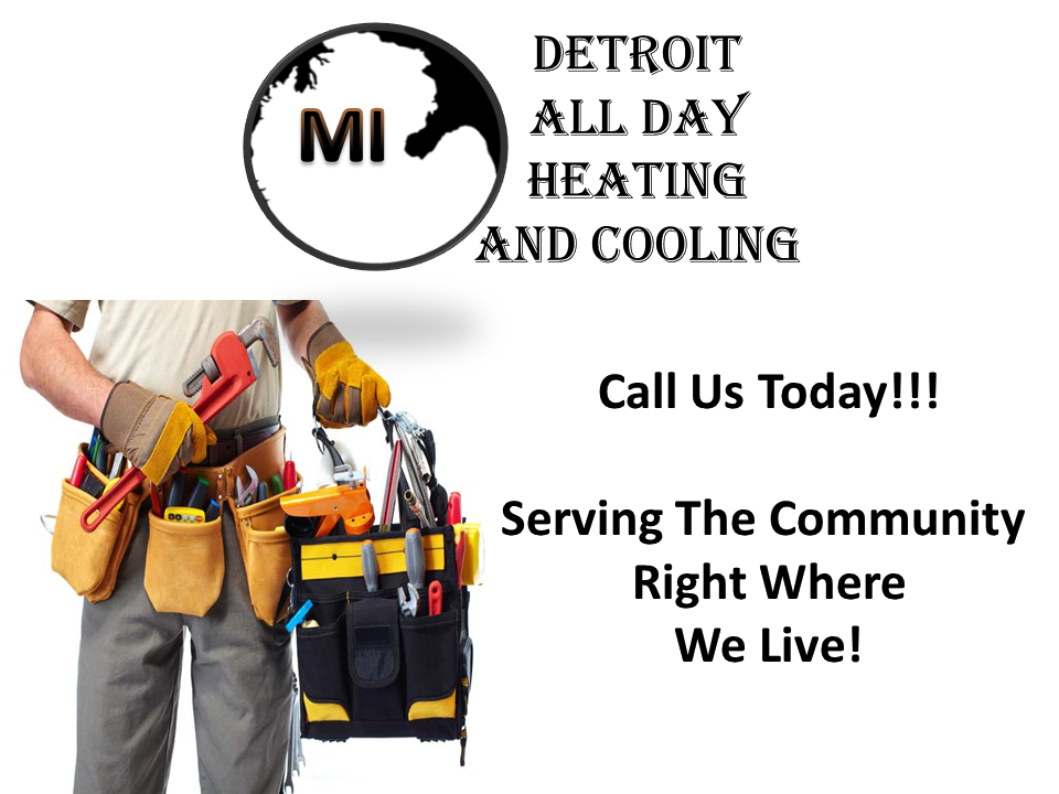 detroit all day heating and cooling logo