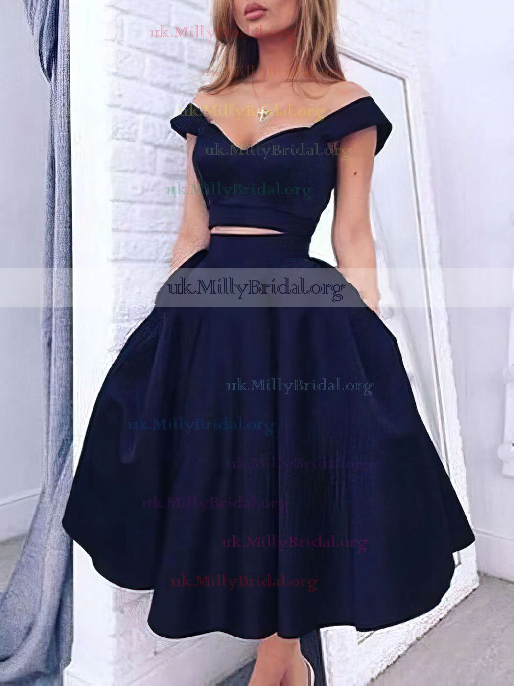 http://uk.millybridal.org/product/a-line-off-the-shoulder-dark-navy-satin-tea-length-two-piece-prom-dresses-ukm020102596-17418.html?utm_source=minipost&utm_medium=1023&utm_campaign=blog