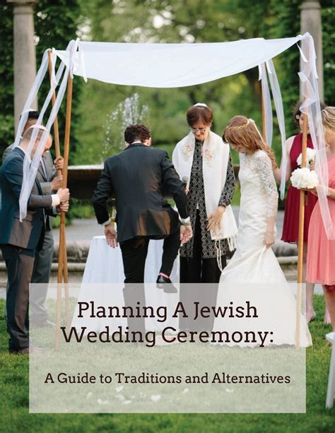 Free 36 page digital guide to planning a Jewish wedding