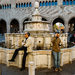 The Piazza Cavour fountain in Rimini, scene of a memorable snowball fight in