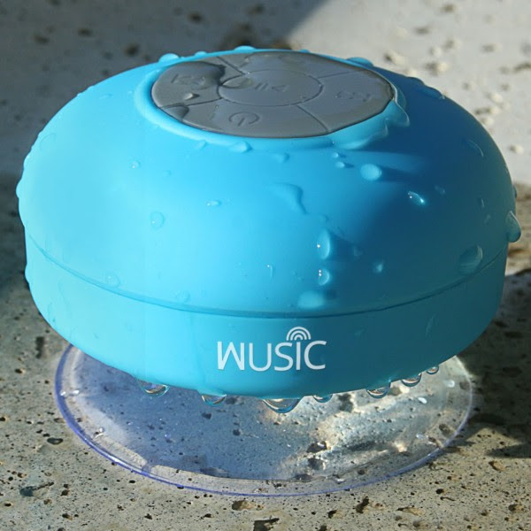 Wusic Bluetooth Shower Speaker Giveaway. Ends 6/8