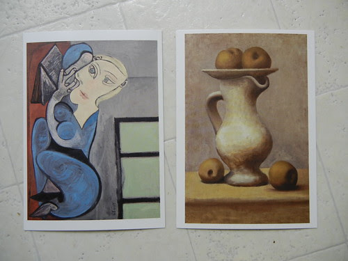 Reclining Woman Reading (Rotated 90 degrees clockwise), 1939 & Still Life with Pitcher and Apples, 1919, Musée national Picasso, Paris