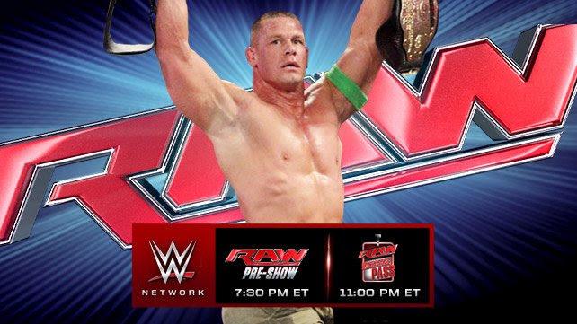 WWE RAW 28/07/2014: Zapowiedź