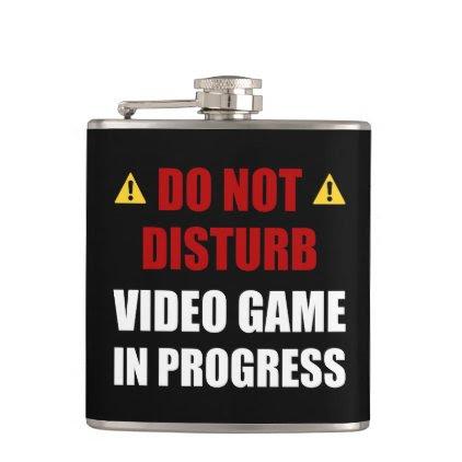 Do Not Disturb Video Game Flask