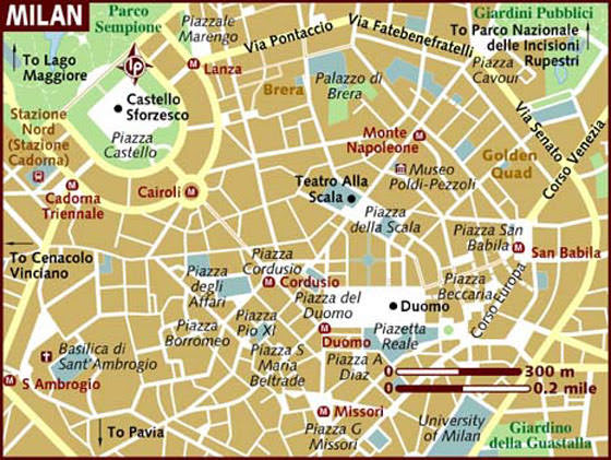 Large Milan Maps For Free Download And Print High