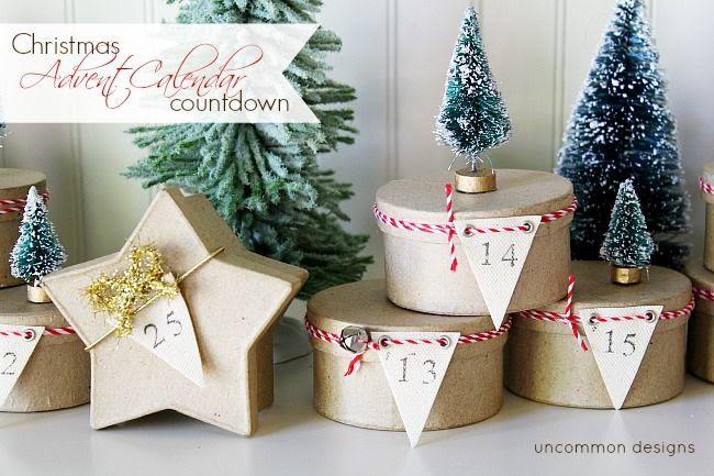 Simple Tree Topped Mini Box Advent Calendar ~ A Christmas Countdown