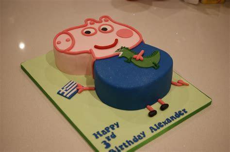 Peppa Pig George & The Dragon 3rd Birthday Cake   Bakealous