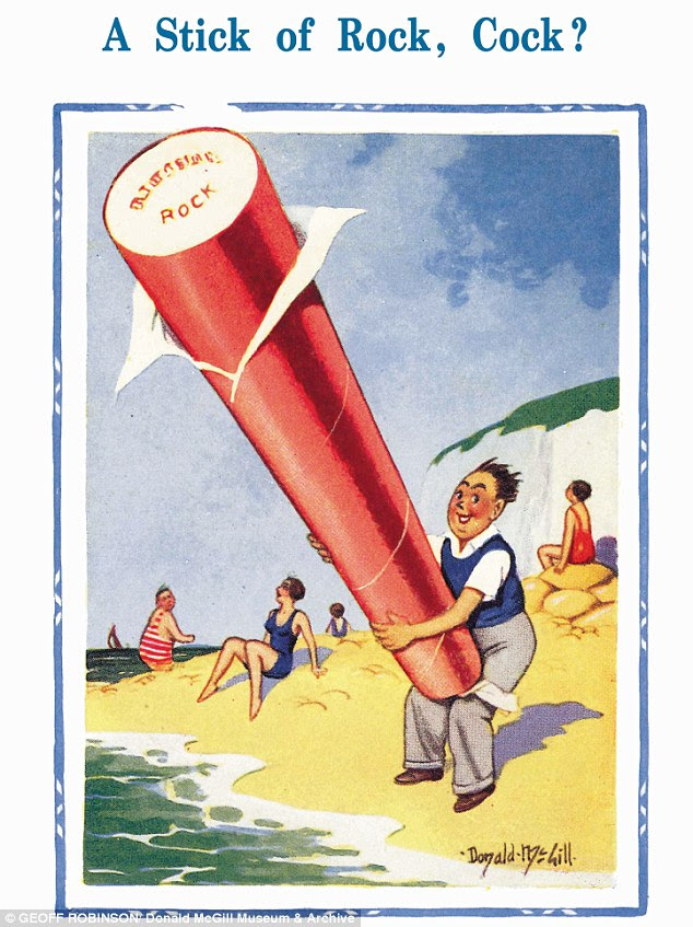 Salty humour: One of the five McGill postcards that was banned in 1954