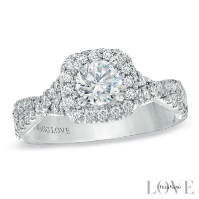 Vera Wang Love Collection Engagement ring and Wedding Band