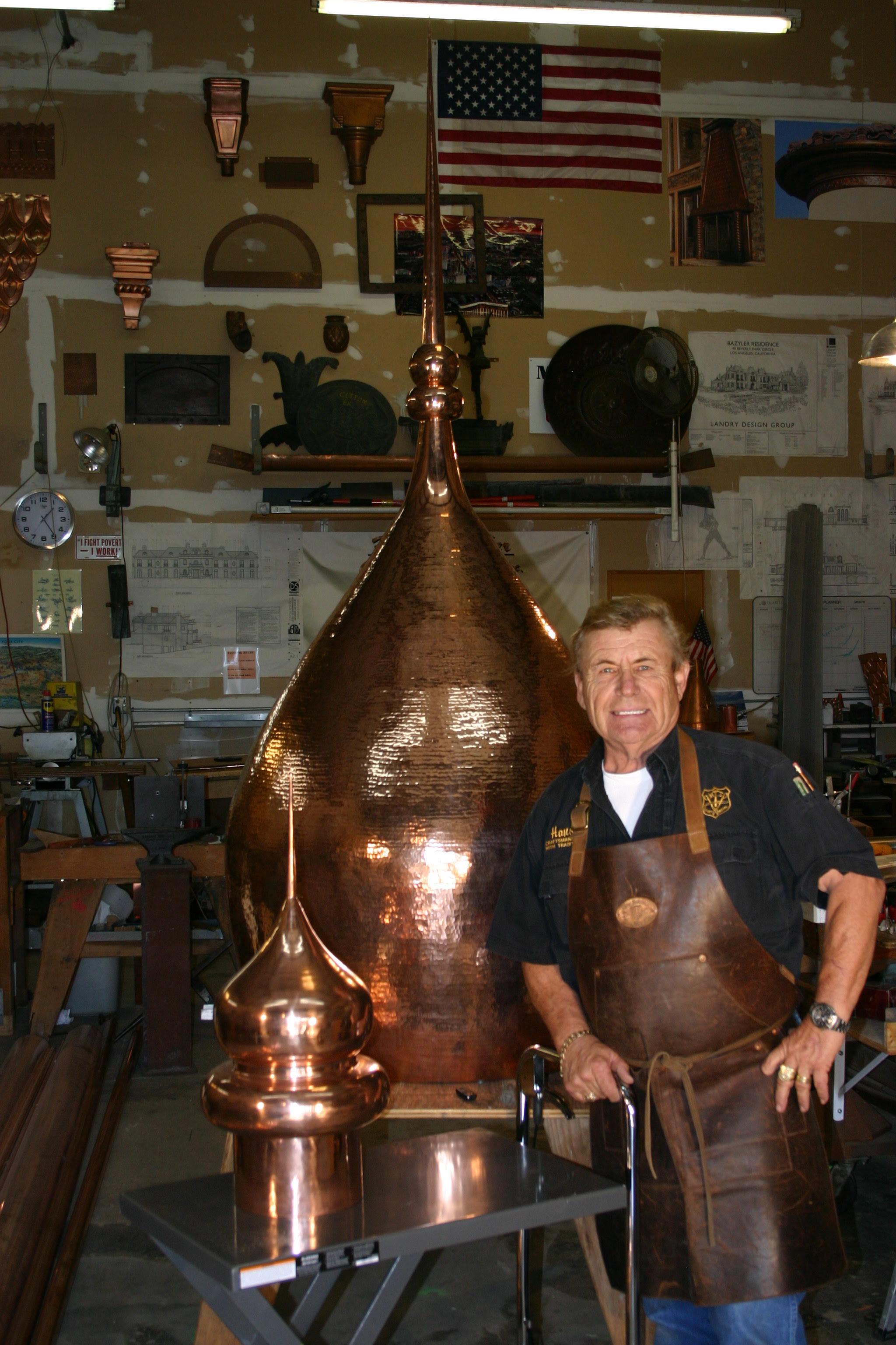 Hans Liebscher Custom Copper Works Sheet Metal Inc