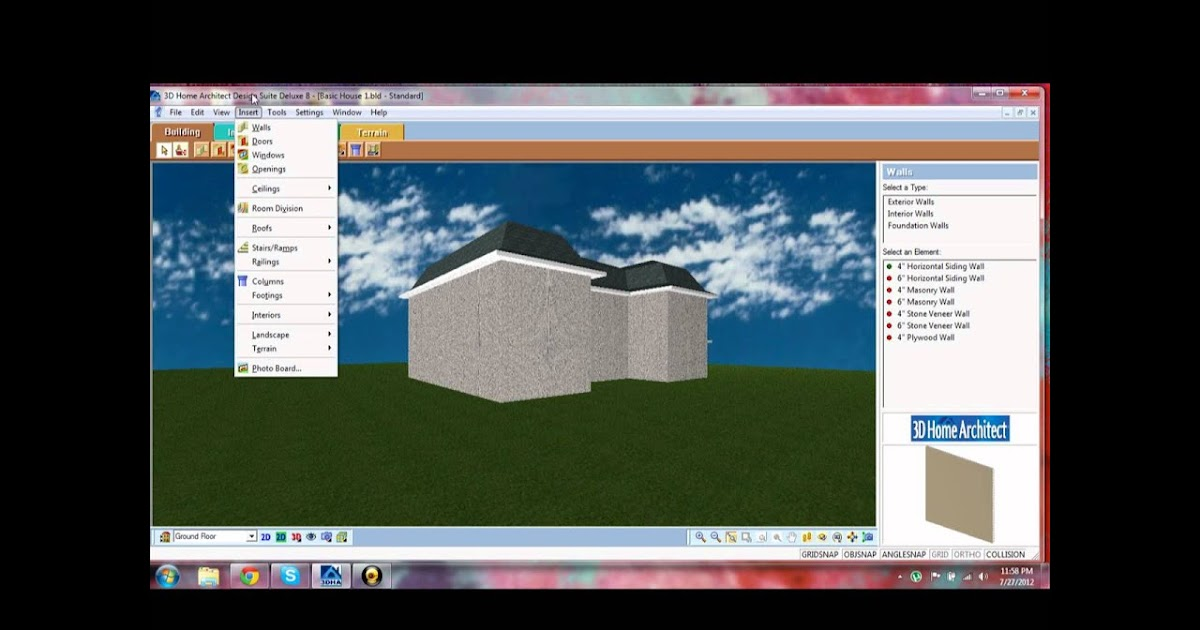 3D Home Architect Design Suite Deluxe 8 Tutorial Interior Decorating Pinterest