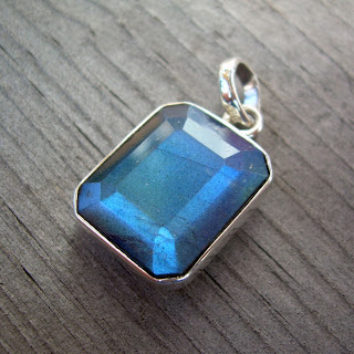 faceted labradorite pendant
