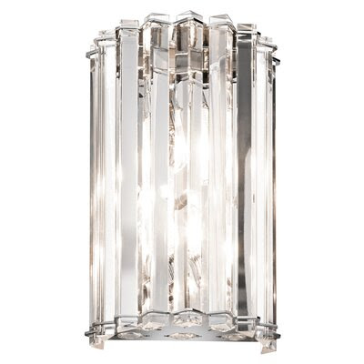 Kichler Crystal Skye 2 Light Wall Sconce   Wayfair