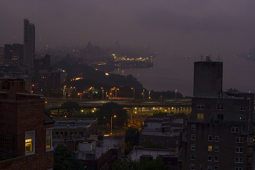 Hazy Cloudy Night in the City