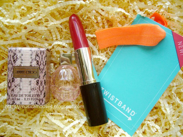 bellabox july jimmy choo perfume twistband pen