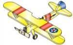 Stearman PT-17 Weathervane Whirligig Woodworking Plan - fee plans from WoodworkersWorkshop® Online Store - airplane,aeroplane,whirligigs,whirlygigs,weathervanes,full sized patterns,woodworking plans,woodworkers projects,blueprints,drawings,blueprints,how-to-build,MeiselWoodHobby