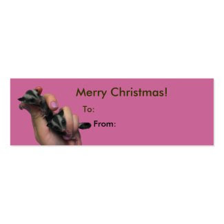 Baby Sugar Gliders Merry Christmas Tag Business Card Template