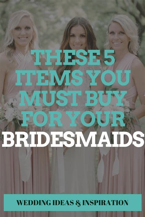These 5 Items You MUST Buy For Your Bridesmaids