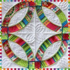 Wedding rings quilt and blocks 4x4 5x5 6x6 7x7 in the hoop