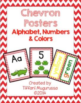 Time4kindergarten, chevron classroom posters