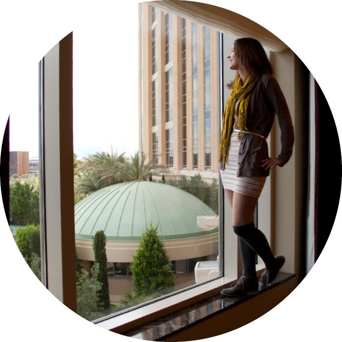 vegas dash dot dotty dashdotdotty style blog stripes tank dress window palazzo