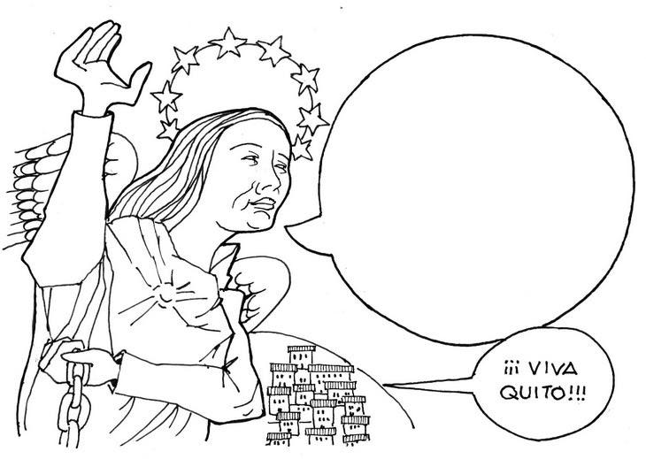 23 Imágenes De Fiestas Y Fundación De Quito Dibujos Para Colorear