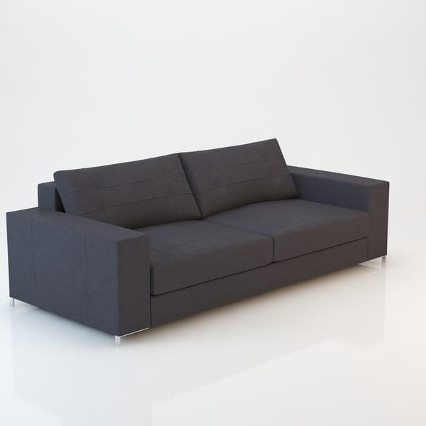 3d model barcelona sofa 230x97