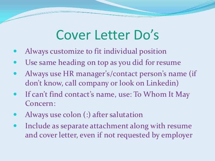 Salutation for cover letter when name is unknown
