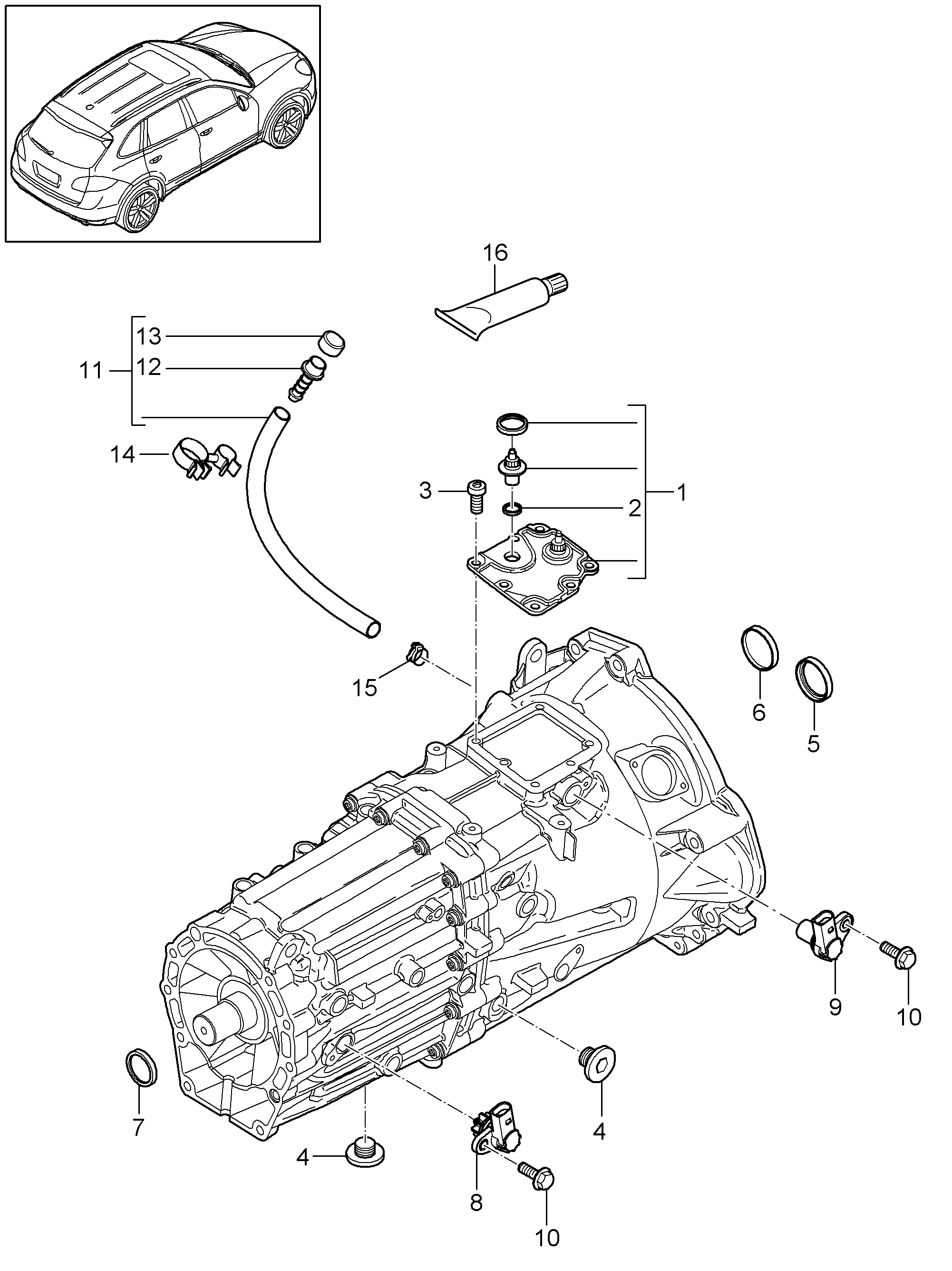 Porsche Transmission Diagram