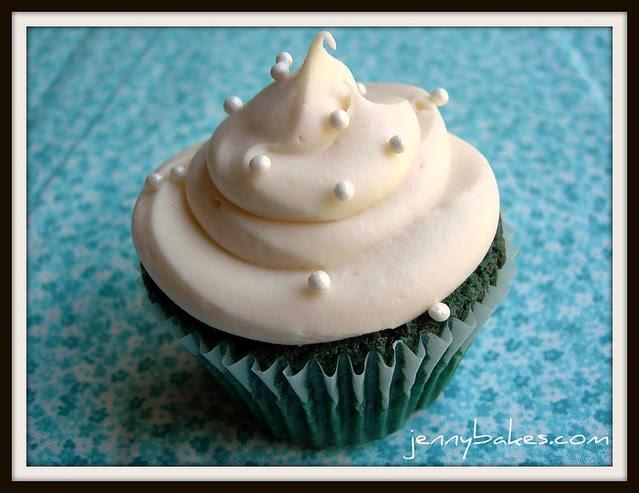Teal Velvet Cupcake