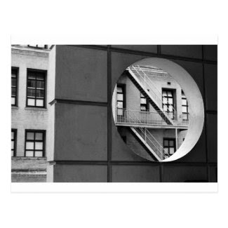 Circle With Fire Escape Post Card