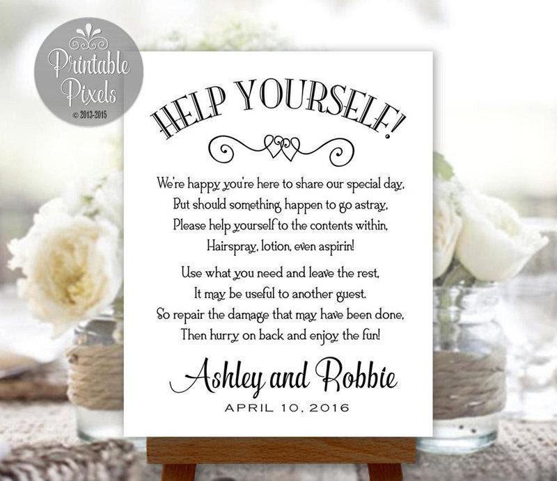 Bathroom Basket Sign Printable Wedding Restroom Toiletries Basket Digital Personalized With Names And Date Bsk1b 2506431 Weddbook
