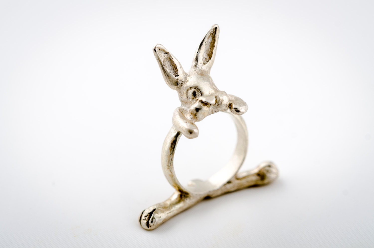 Rabbit, Bunny - Silver Ring - korneliaShop