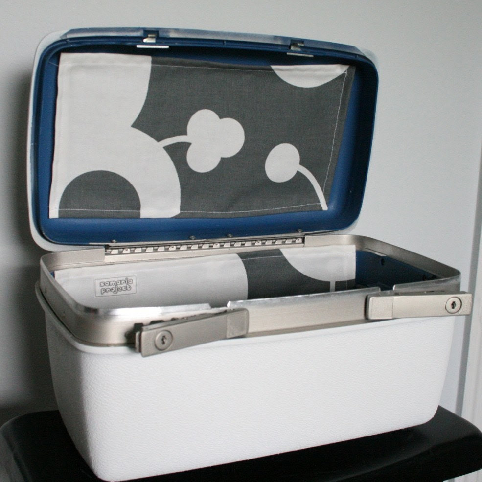 SAMARIA PROJECT UPcycled White Train Case Relined and Oh So FINE