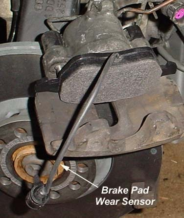 Audi area: Audi A8 Troubleshooting the Front Brake Pad