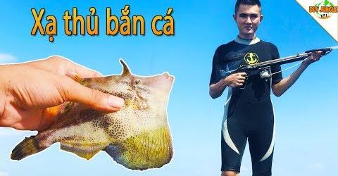 Lặn Bắn Cá Biển Dưới Bè Nuôi Tôm Hùm | Xạ thủ bắn cá | Duy Jungle