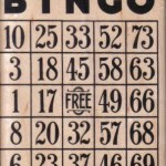 Bingo Card (#8431) from Viva Las Vegastamps!
