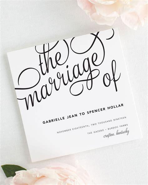 Statement Script Wedding Programs   Wedding Programs by Shine