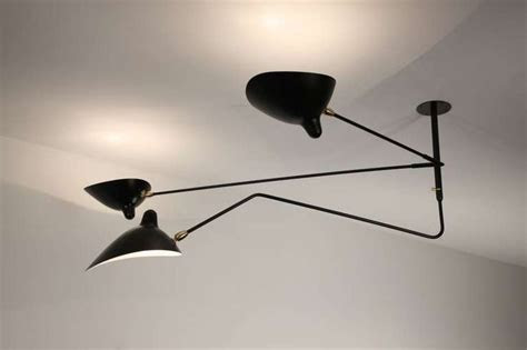 serge mouille ceiling lamp   arms  rotating