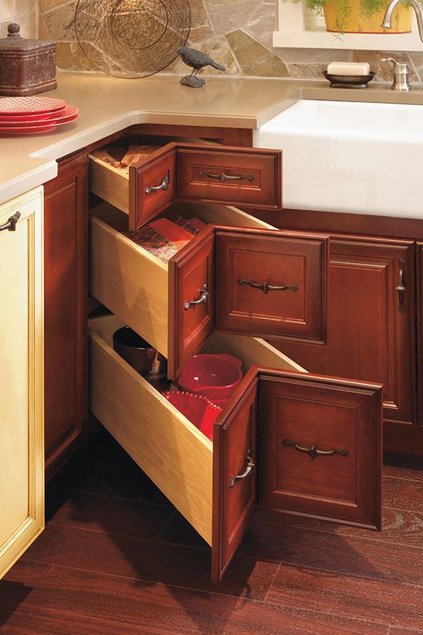 Corner Drawer Cabinet - Decora Cabinetry