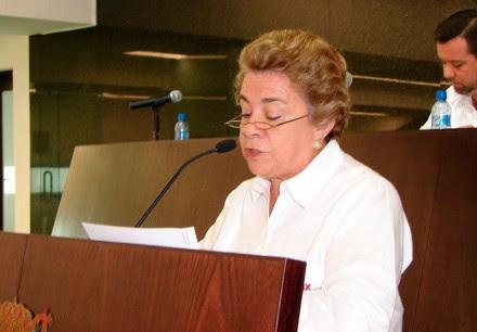 La presidenta de la Comisión de Equidad y Género del Congreso local, Gloria Aguilar de Ita. Foto: Especial