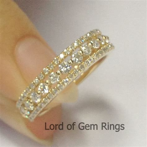 Stackable 1.10ct Diamonds 14K Yellow Gold Engagement