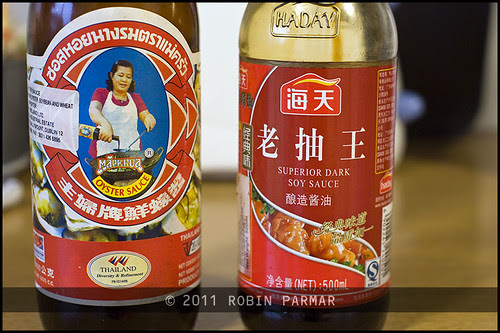 10 oyster sauce and soy sauce