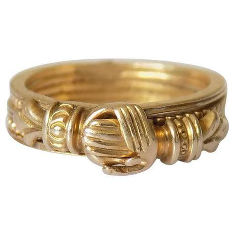 Georgian Yellow Gold Gimmel Fede Ring at 1stdibs