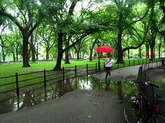 Red Umbrella leaping