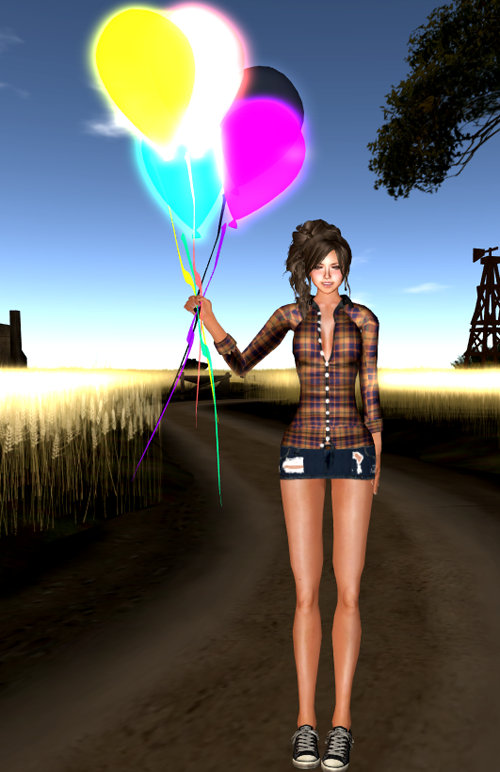 M2M Poses [Solo] Holding a Balloon
